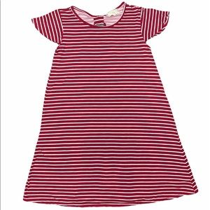 Girls Red and White striped Btween Dress size 10